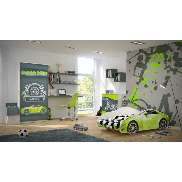 SKLADOM: Detská autopostel S-CAR 140x70 cm - zelená