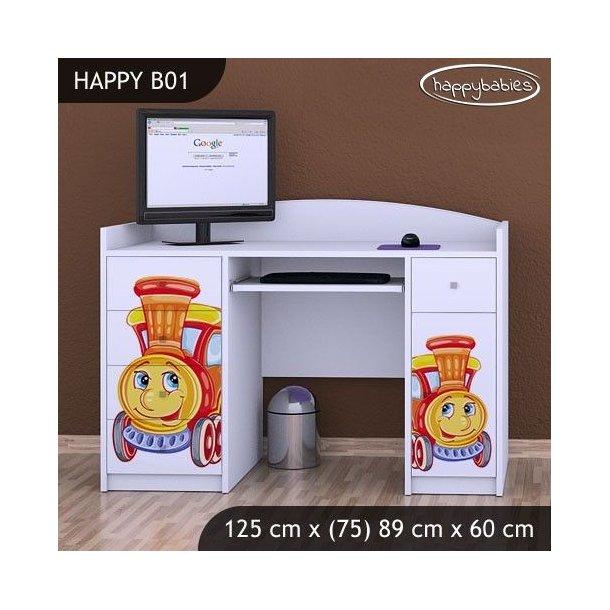 SKLADOM: Detský písací stôl LOKOMOTIVA - TYP 1 - svetlá hruška