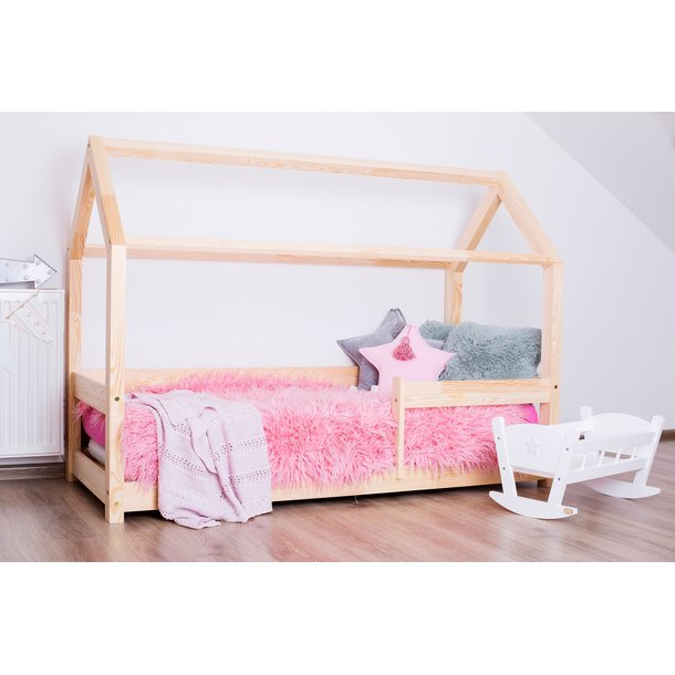 SKLADOM: Detská posteľ z masívu DOMČEK - TYP B 180x90 cm