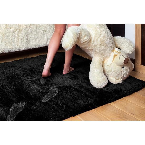 Detský plyšový koberec ČIERNY