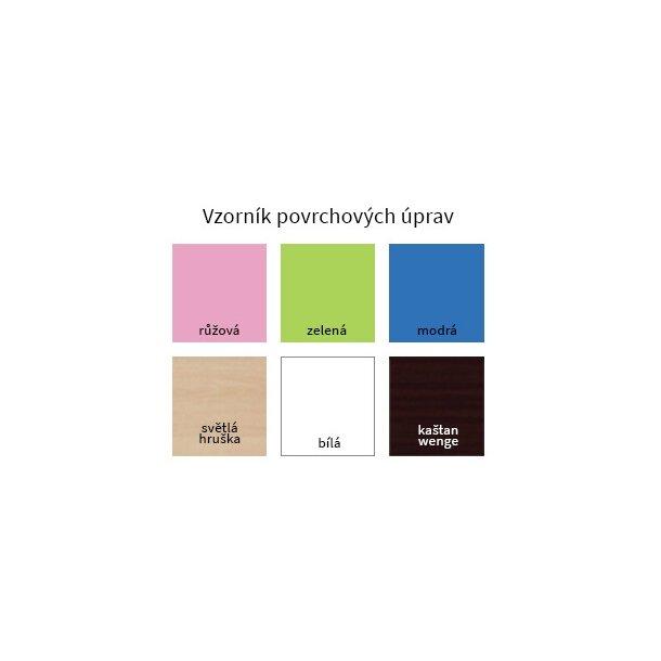 SKLADOM: Detský nočný stolík FAREBNÉ sovička - TYP 3 - biely - otváranie vľavo