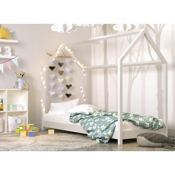 Detská Domčekové posteľ IZABELA - biela 200x90 cm