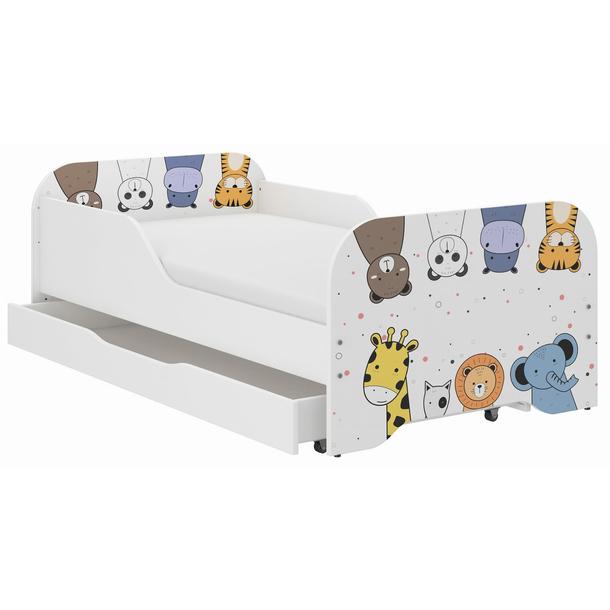 Detská posteľ KIM - MINI ZOO 160x80 cm