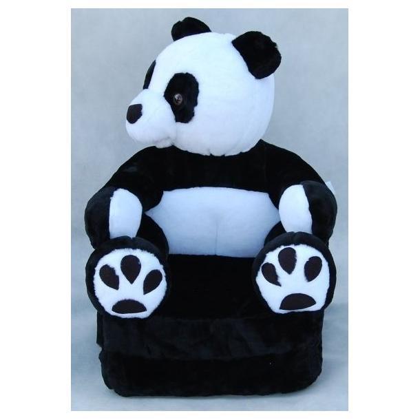 Detské plyšové rozkladacie kresielko PANDA