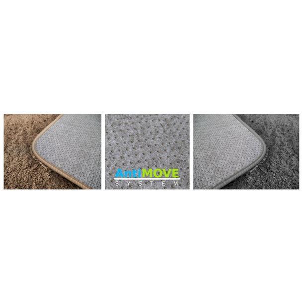 Plyšový koberec - spodná strana