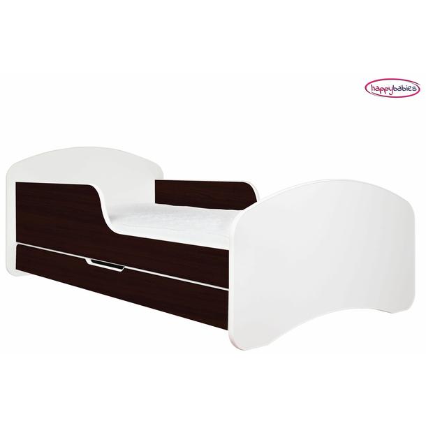 SKLADOM: Detská posteľ so zásuvkou 140x70 BIELA / KAŠTAN WENGE + matrace ZADARMO!