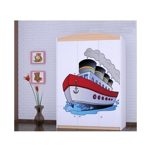 Detská skriňa lodička - TYP 10