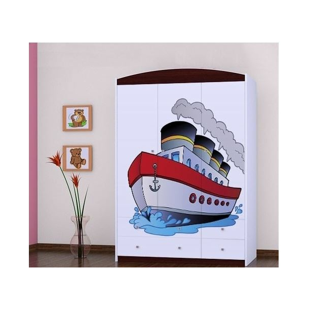 Detská skriňa lodička - TYP 9