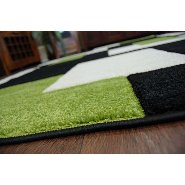 Moderné koberec ČIERNO-ZELENÝ 7778