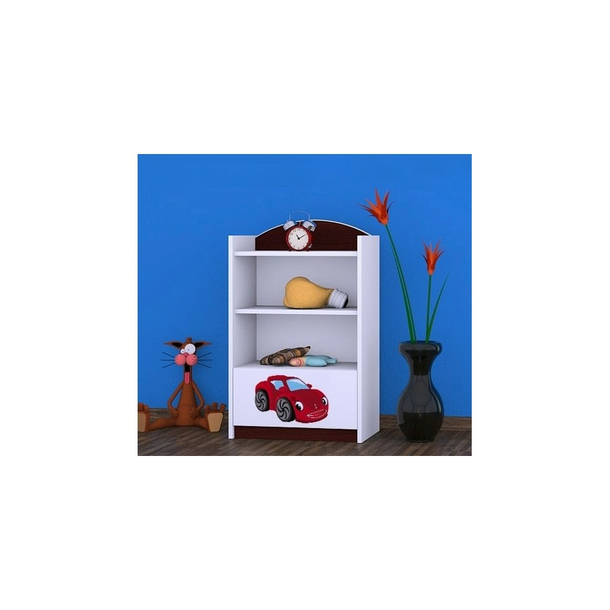 Detský úložný regál RED CAR - TYP 8 - NÍZKY