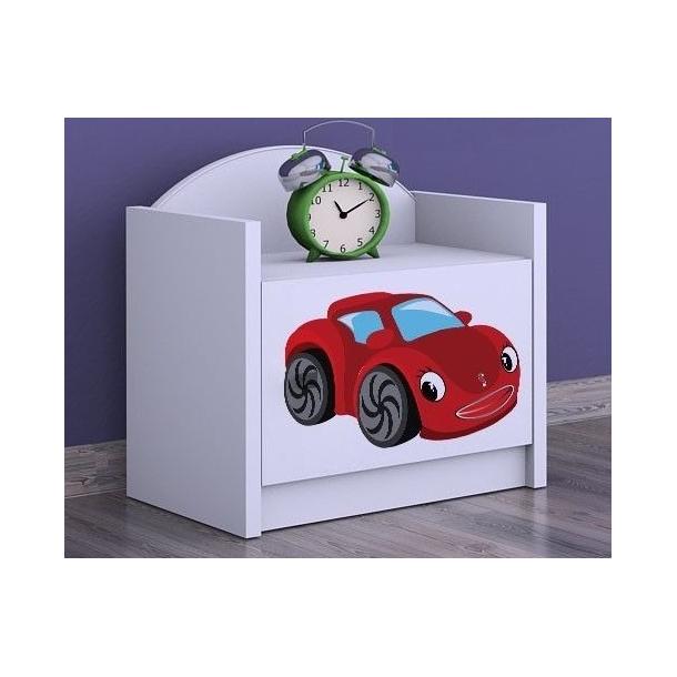 Detský nočný stolík RED CAR - TYP 3
