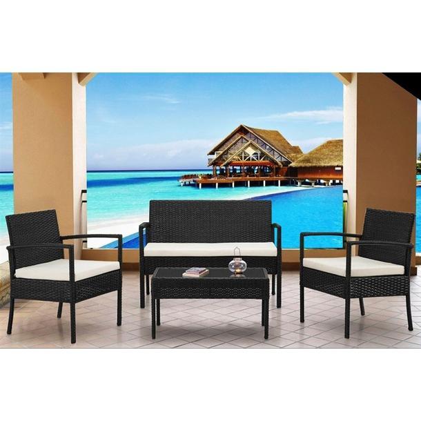Záhradný ratanový nábytok JAMAICA set 4ks hnedý