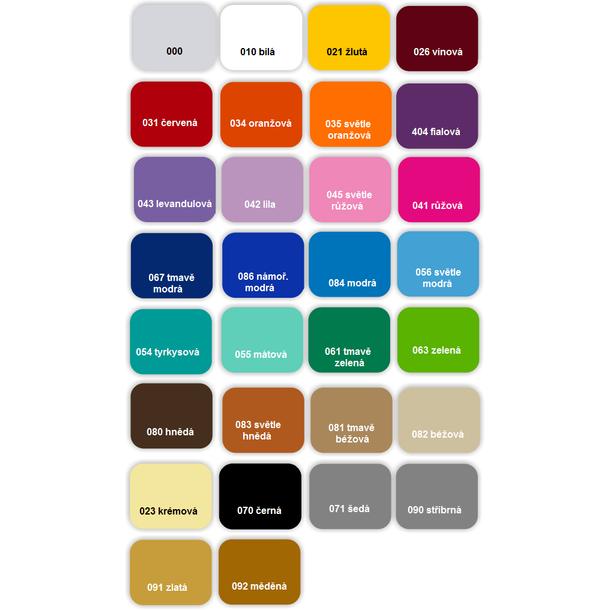 Samolepky DECOR COLOR - Vzorkovník farieb