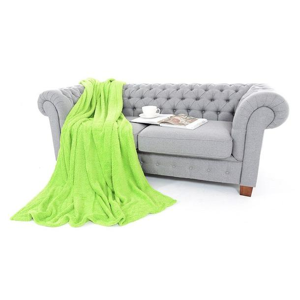 Deka prehoz SOFT zelená