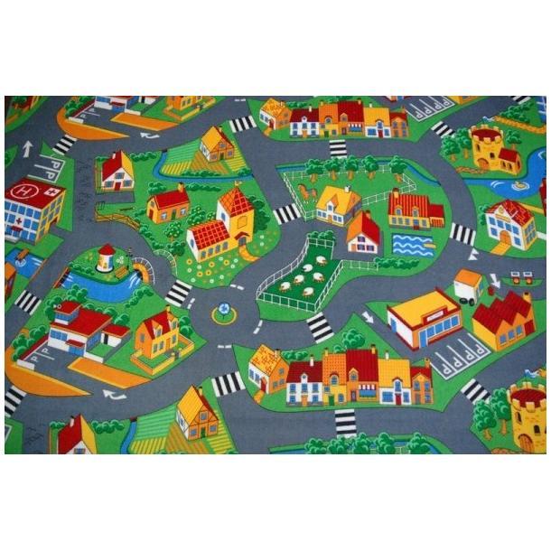 Detský koberec dedinkou soft