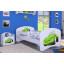 Detská posteľ bez šuplíku 160x80cm ZELENÉ AUTO