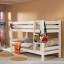 Detská poschodová posteľ Barco 200x90 cm - biela