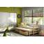 Detská posteľ s výsuvnou prístelkou z MASÍVU bez šuplíku - DPV001