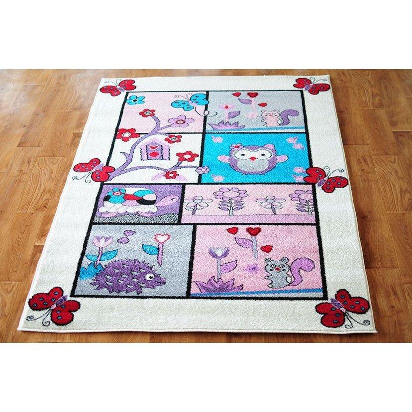 79687b46b5ee Detský koberec ROZPRÁVKOVÝ LES - krémový ...