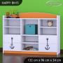 Detský úložný regál lodičky - TYP 15 - NÍZKY
